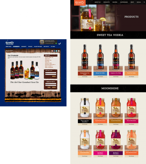 FireflySpirits.com Before & After
