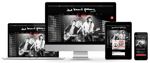 TheBandPerry.com - Responsive Drupal Website Design
