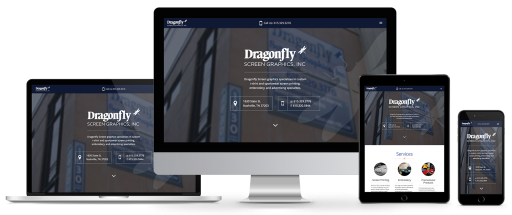 Dragonfly Screen Graphics Responsive web design