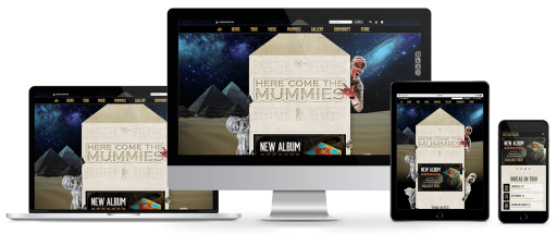 Here Come The Mummies Website Responsive Design
